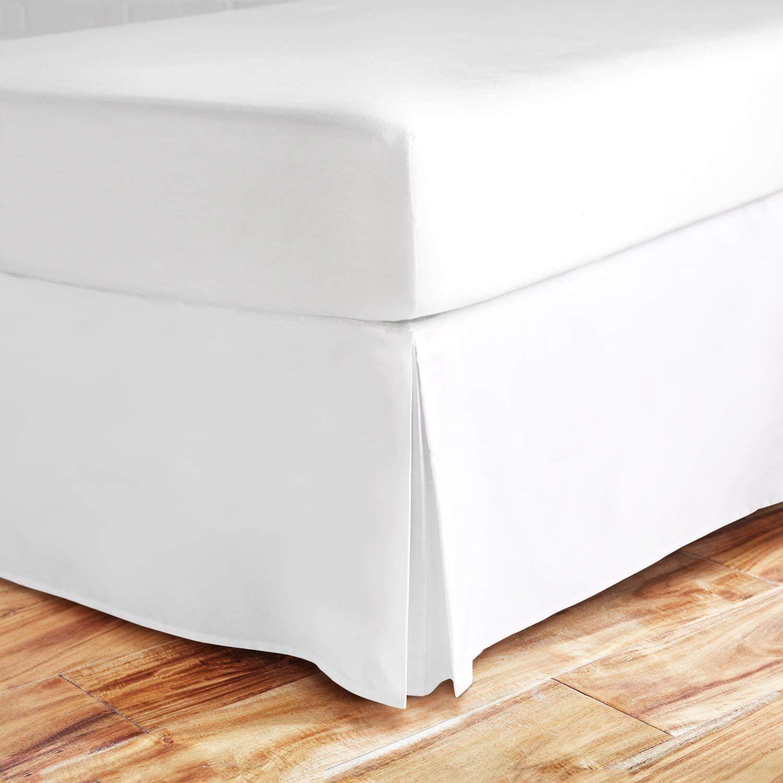 Valencia Beddings Split Corner Bed Skirt 21 Inch Drop Queen Size