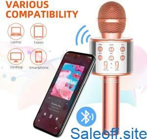 60% coupon code for TRONICMASTER Wireless Karaoke Microphone Bluetooth, 3 in 1 Wireless Portable...