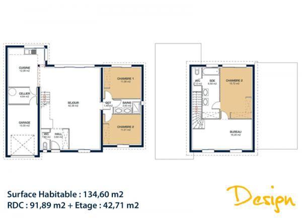 Modèle et plan de maison Design par le constructeur MAISONS CHARENTE