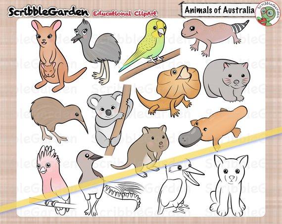Habitat Animals Of Australia Clipart Australia Animals Animal Books Habitats