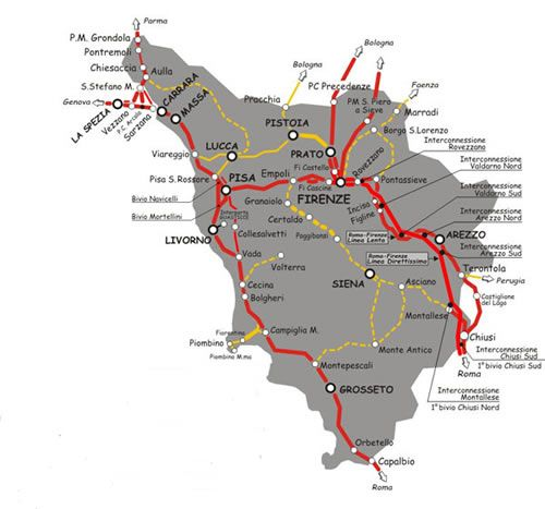 UMBRIA RAIL MAP Italia Pinterest Italia