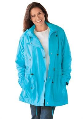 jacket, anorak in weather-resistant taslon | plus size lightweight