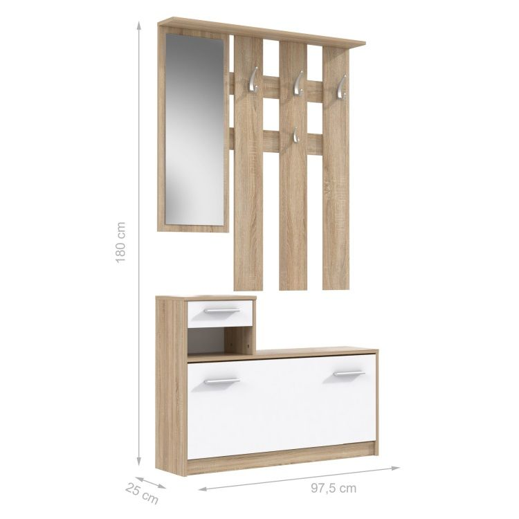 finlandek vestiaire peili 180cm blanc ch ne achat vente meuble d 39 entr e peili vestiaire. Black Bedroom Furniture Sets. Home Design Ideas
