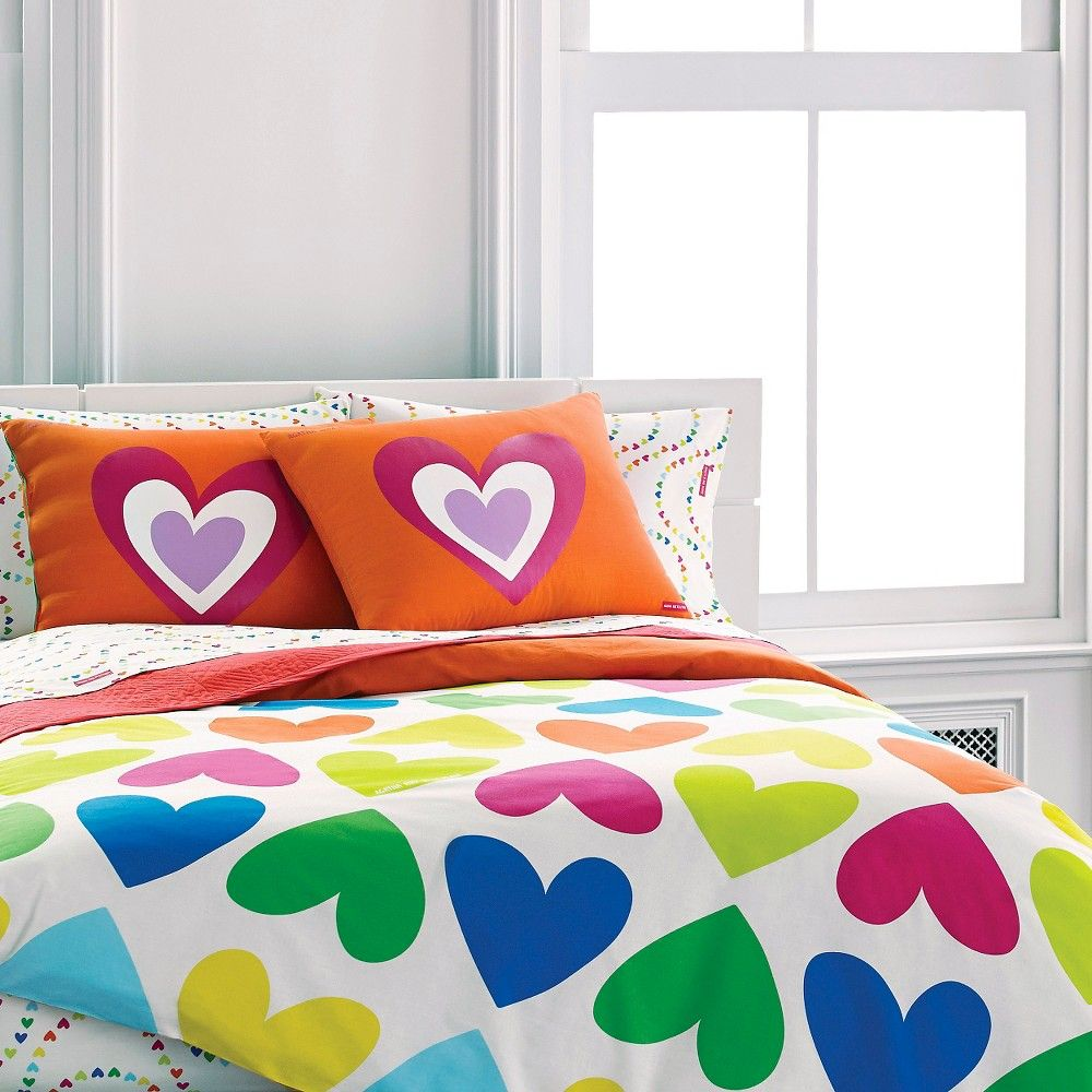 Bloom Hearts Mini Comforter Set -  (Full/Queen)