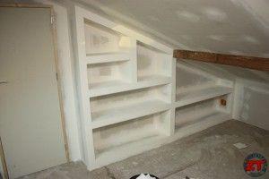 bibliotheque placo maison pinterest travaux placard et le site. Black Bedroom Furniture Sets. Home Design Ideas