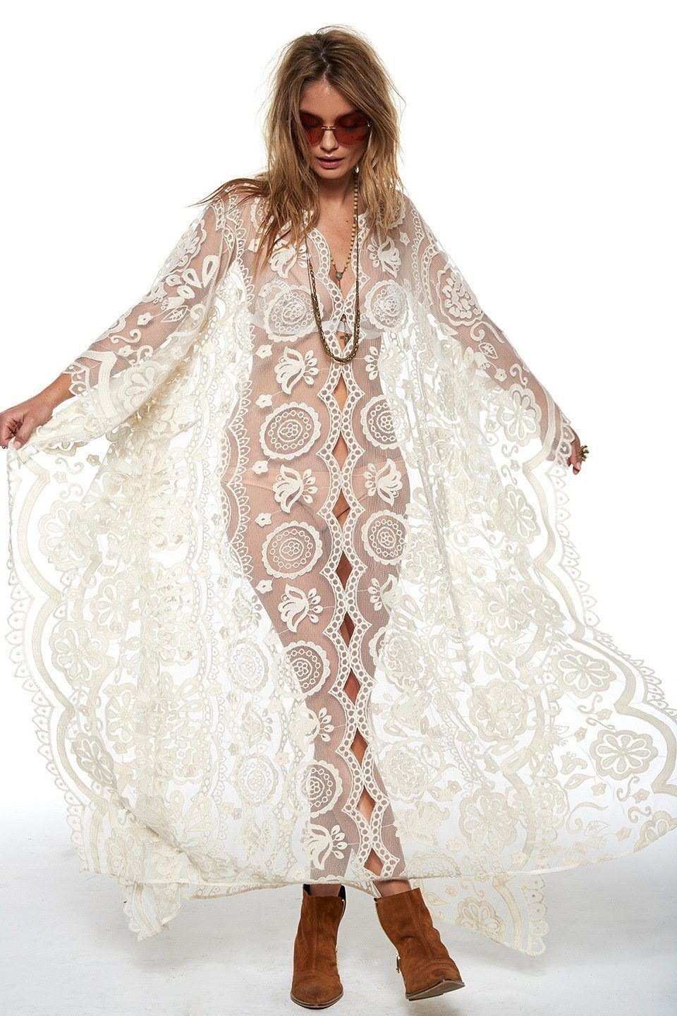 White Lace Lace Beach Cover Up In 2020 Women Lace Dress Maxi Dress Party Womens Maxi Dresses