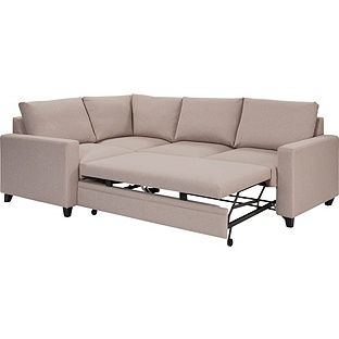 Buy Argos Home Seattle Left Corner Fabric Sofa Bed Natural Sofa Beds Sofa Bed Sofa Natural Sofas