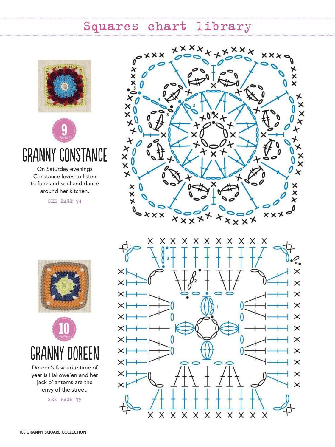 Granny square collection 2016 #ClippedOnIssuu | Crochet square ...