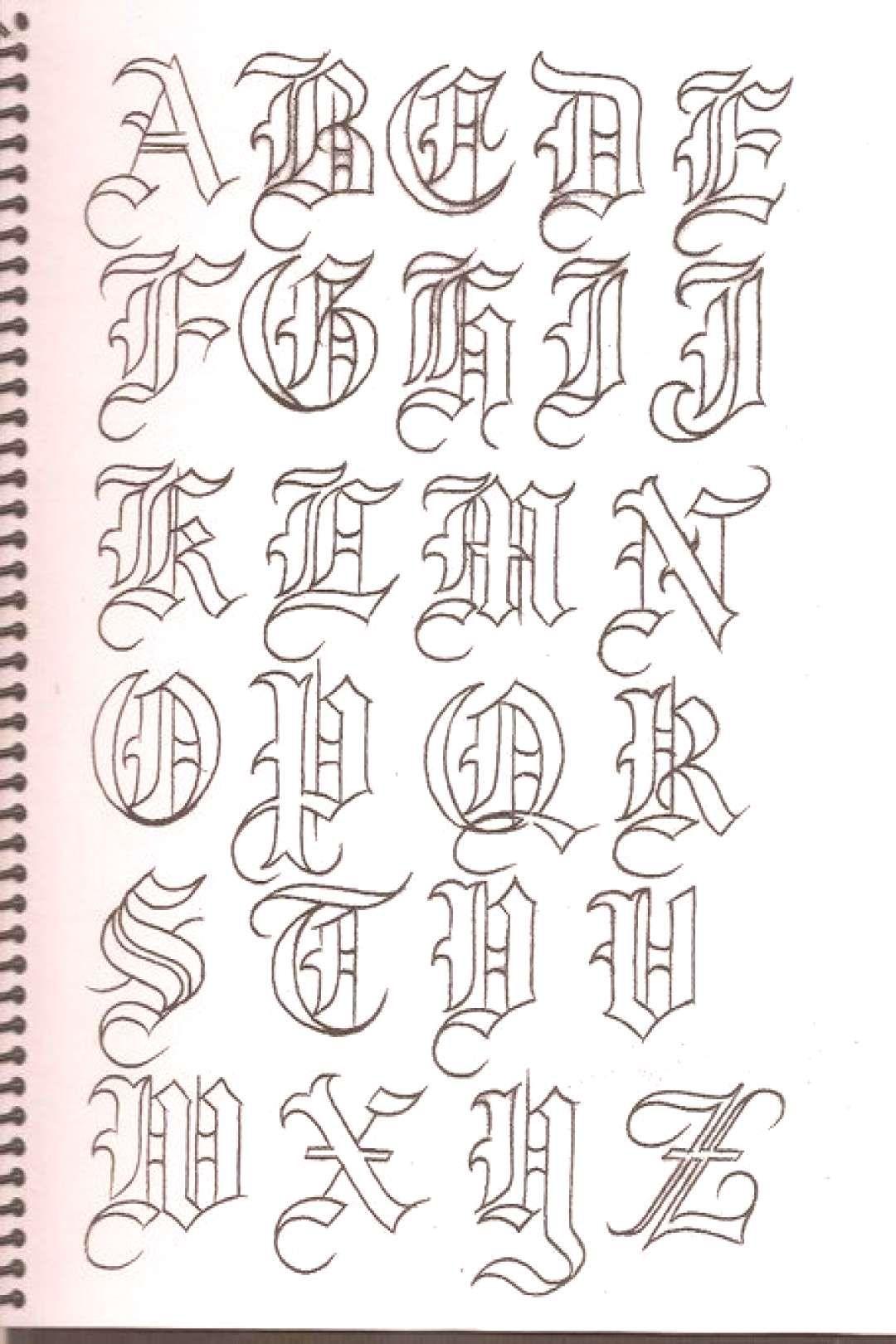 Caligrafía, abecedarios Caligrafía, abecedarios