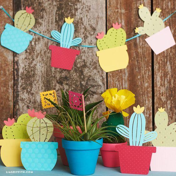 Idées de décoration en papier pour table d'été - Blog Agent Paper #garlandofflowers