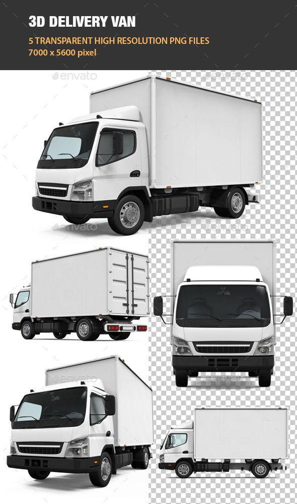 3d Delivery Van Vans Graphic Design Templates Mandala Design Art
