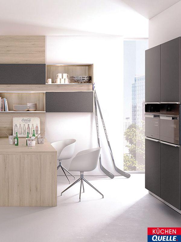 Die Design-Küche Systema 6000 Schwarz Lack verbindet mattschwarze - küchenschrank griffe edelstahl