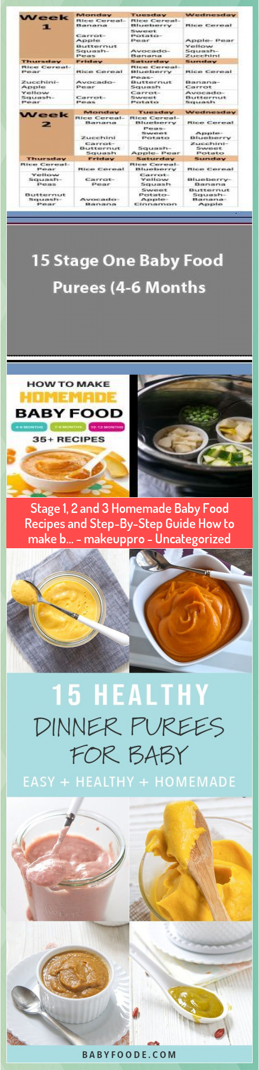Stage 1, 2 and 3 Homemade Baby Food Recipes and Step-By-Step Guide How to make b... #babyfoodrecipesstage1 Stage 1, 2 and 3 Homemade Baby Food Recipes and Step-By-Step Guide How to make b... #homemadebabyfoods