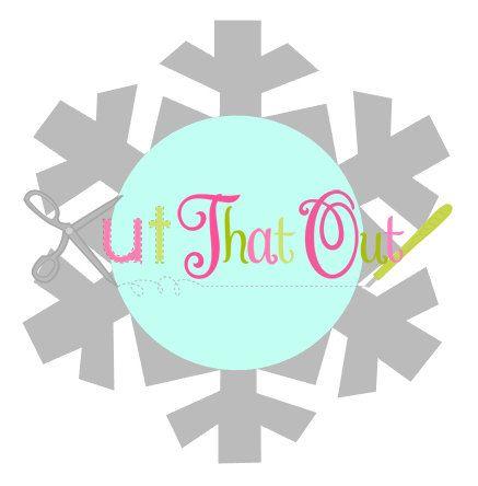 Archivo de SVG monograma de copo de nieve por KutThatOut en Etsy