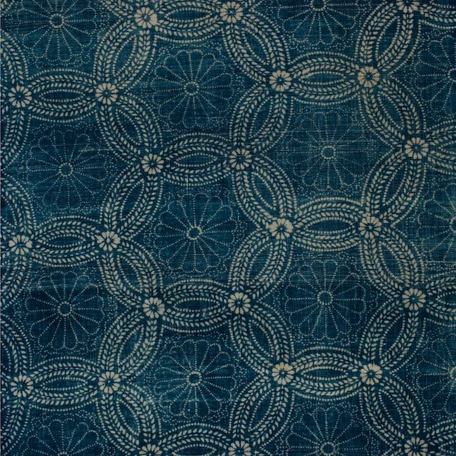 Detail of a early 20th century Japanese Indigo textile via the gifts of life