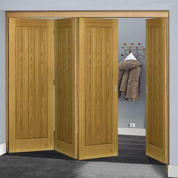 Thrufold Ely Oak 3+1 Folding Door - Unfinished | Ely and Doors