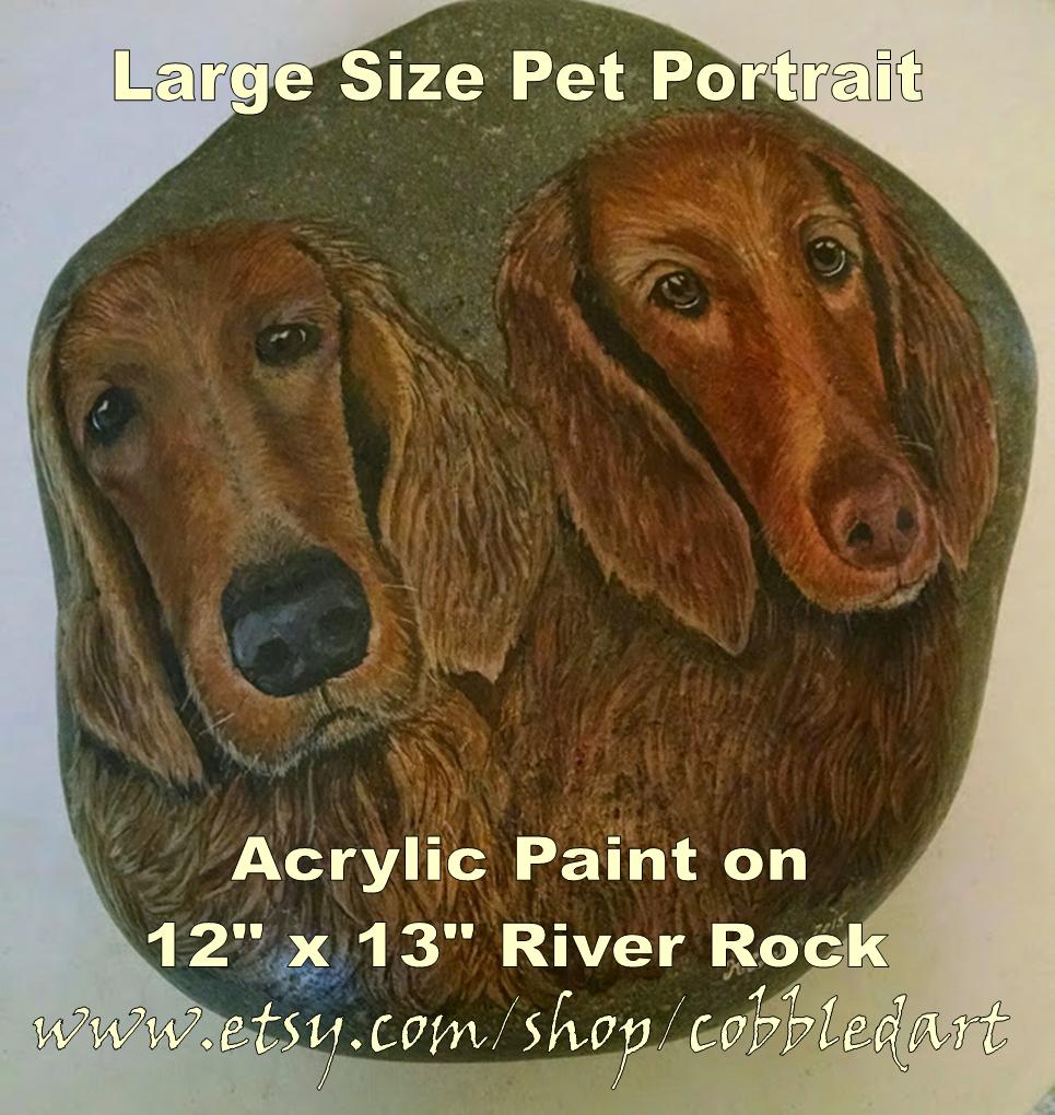 Hand Painted Rocks, Pet Memorials, Pet Portraits, Stone Paintings ...