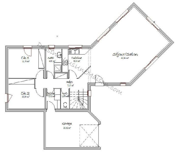plans de maisons contemporaines catalogue et plans maisons gratuits - Exemple Plan Maison Moderne