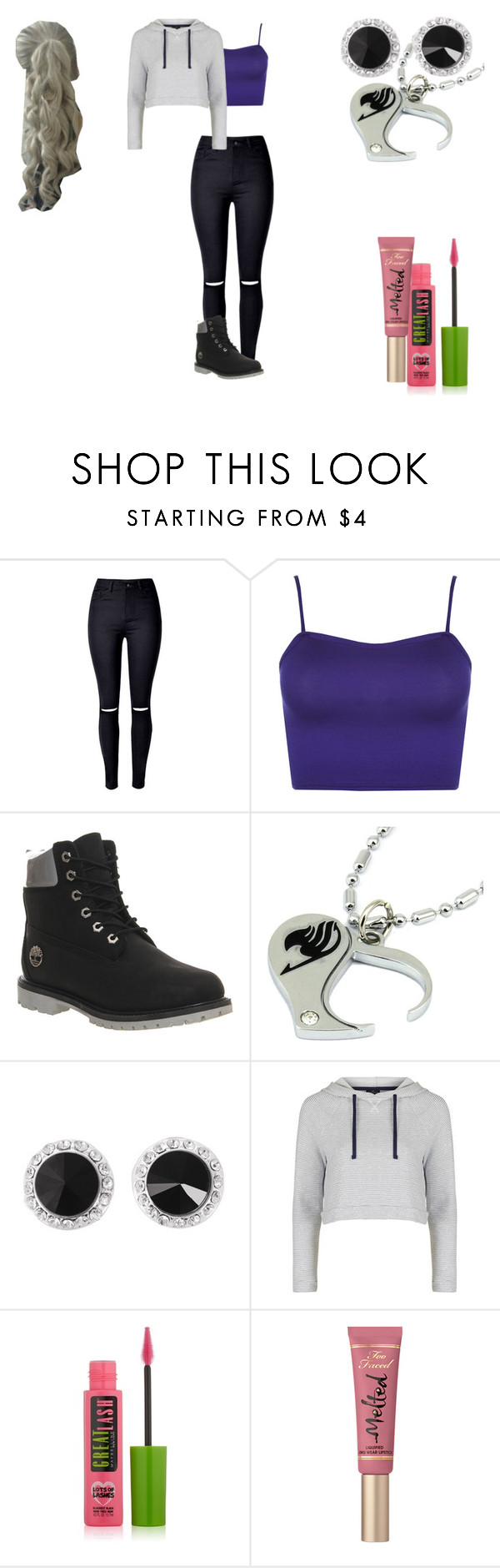 """Lillian Lockstar At  a Meeting"" by shestheman01 on Polyvore featuring WearAll, Timberland, Topshop, Maybelline and Too Faced Cosmetics"