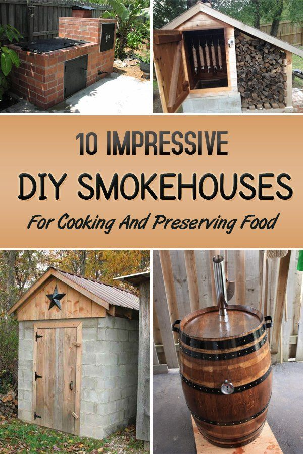 10 impressive diy smokehouses for cooking and preserving food - Meat Smokehouse Plans