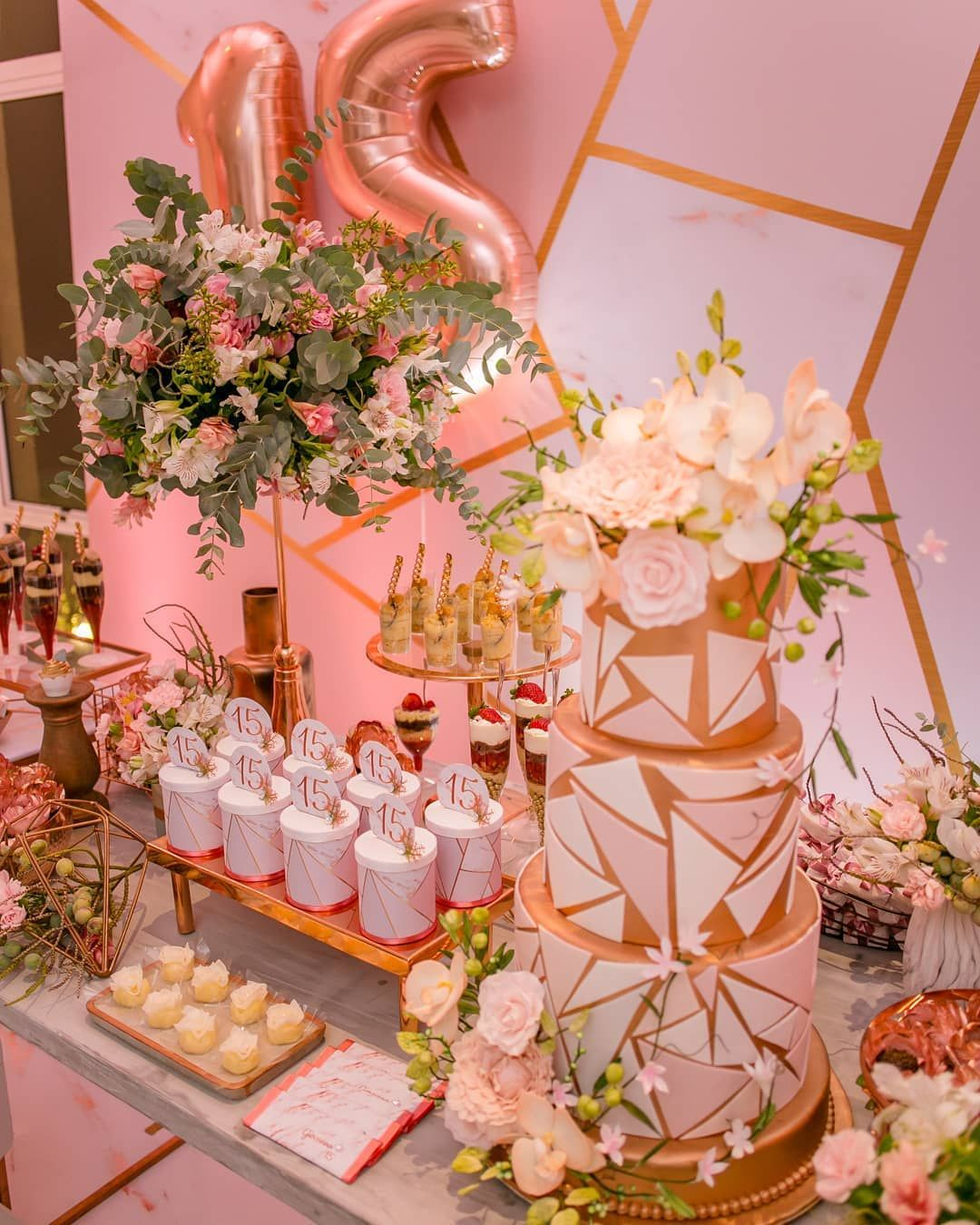 Rose Gold Quinceañera Inspiration For Your Quince | Mi Padrino -   12 sweet 16 desserts Table ideas