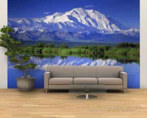 Alaska Range Denali National Park Alaska Usa Wall Mural Large Allposters Com Family Room Walls Cool Walls Wall Murals
