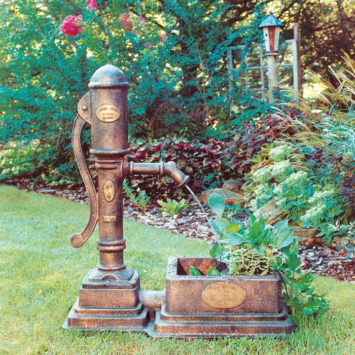 Laurence water pump fountain planter home pinterest for Bombas para fuentes de jardin