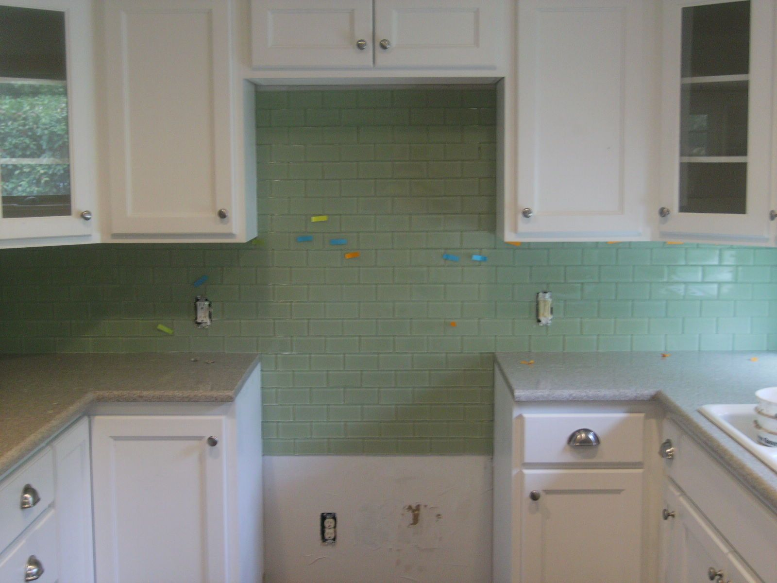 Kitchen countertops subway tile install confessions tile for Traditional kitchen wall tiles