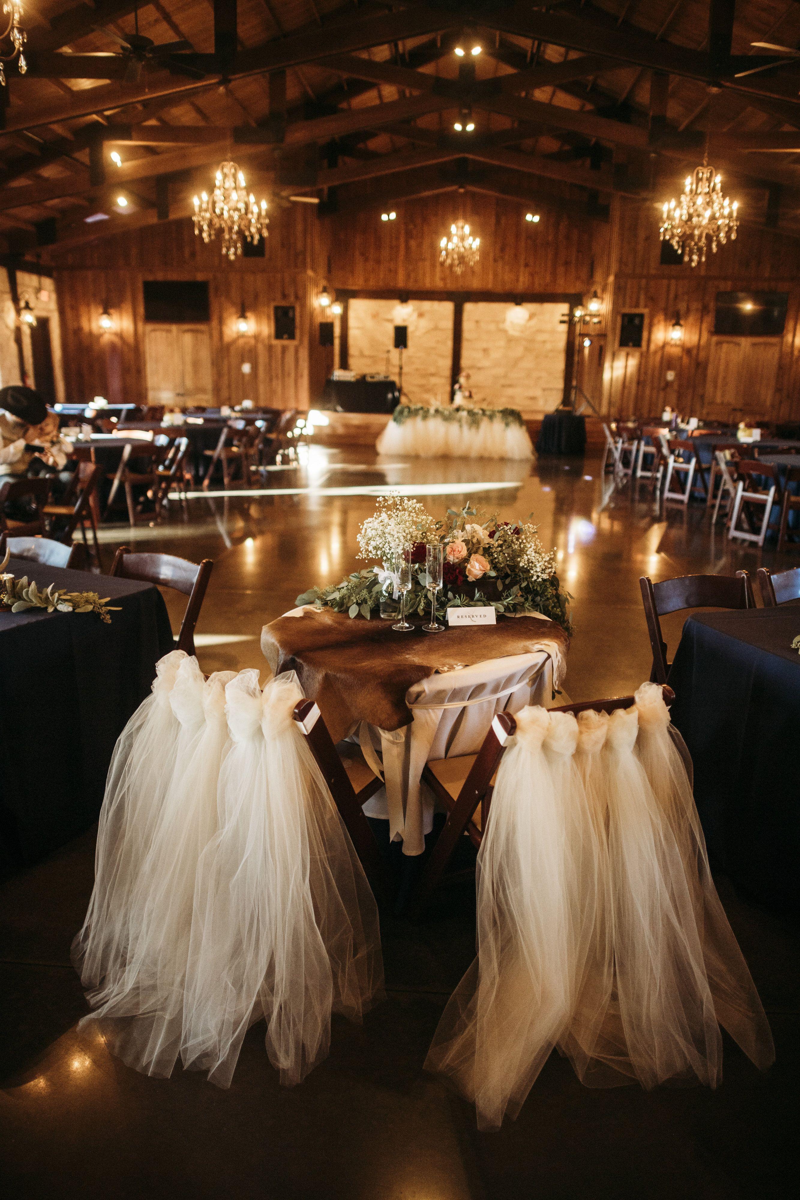 Wedding Venue Norman Oklahoma Sweetheart Table Decor Country