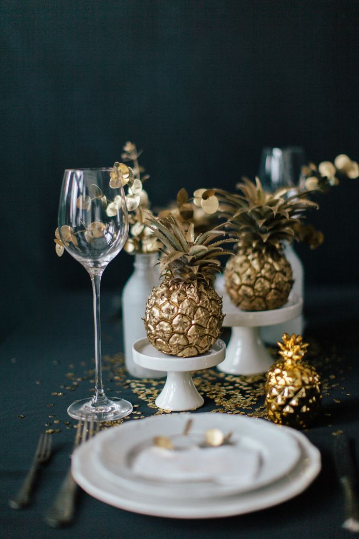 Wedding Table decoration ideas for Gold themed wedding | fabmood.com