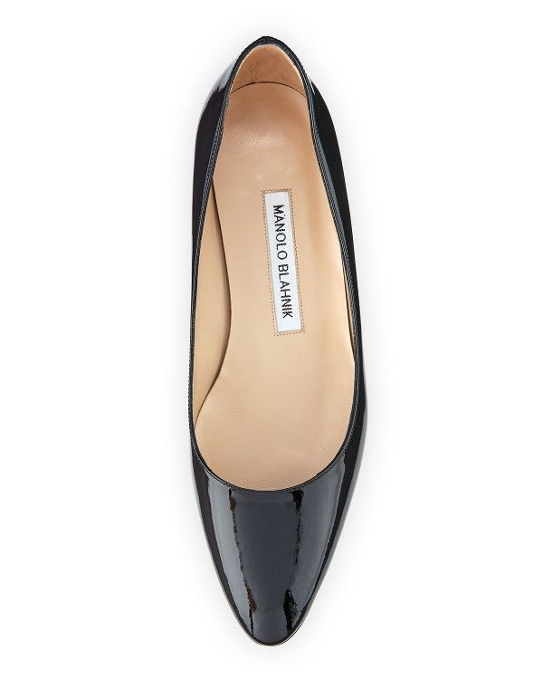 6b9858751e8 Manolo Blahnik - Listony Patent Low-Heel Pump