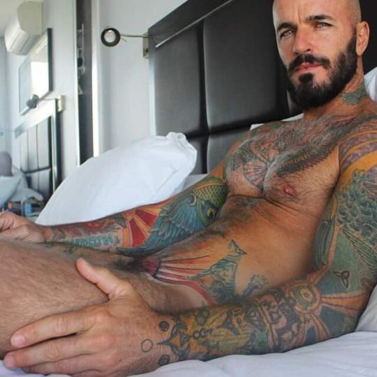 Tattoo homosexual a bit of butthole and facial