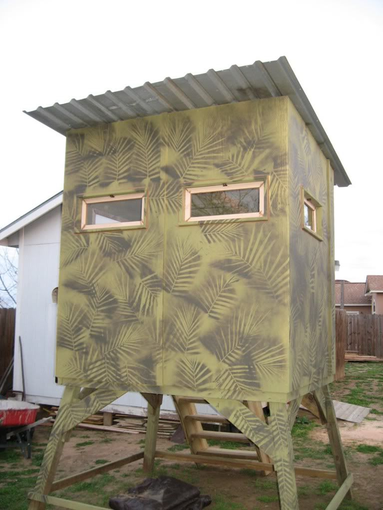 Diy deer blind plans post what you have texas for Hunting shack designs
