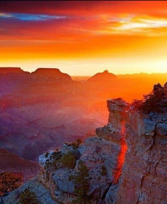 Salida del Sol en el Gran Cañón!