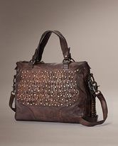 Diana stud satchel Dark Brown