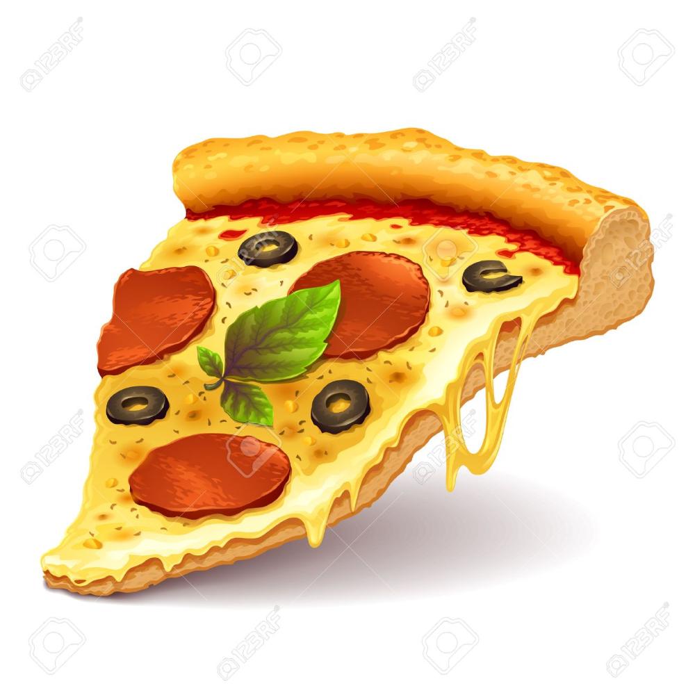 Cheesy Pizza Slice Pizza Vector Pizza Slice Food Illustrations
