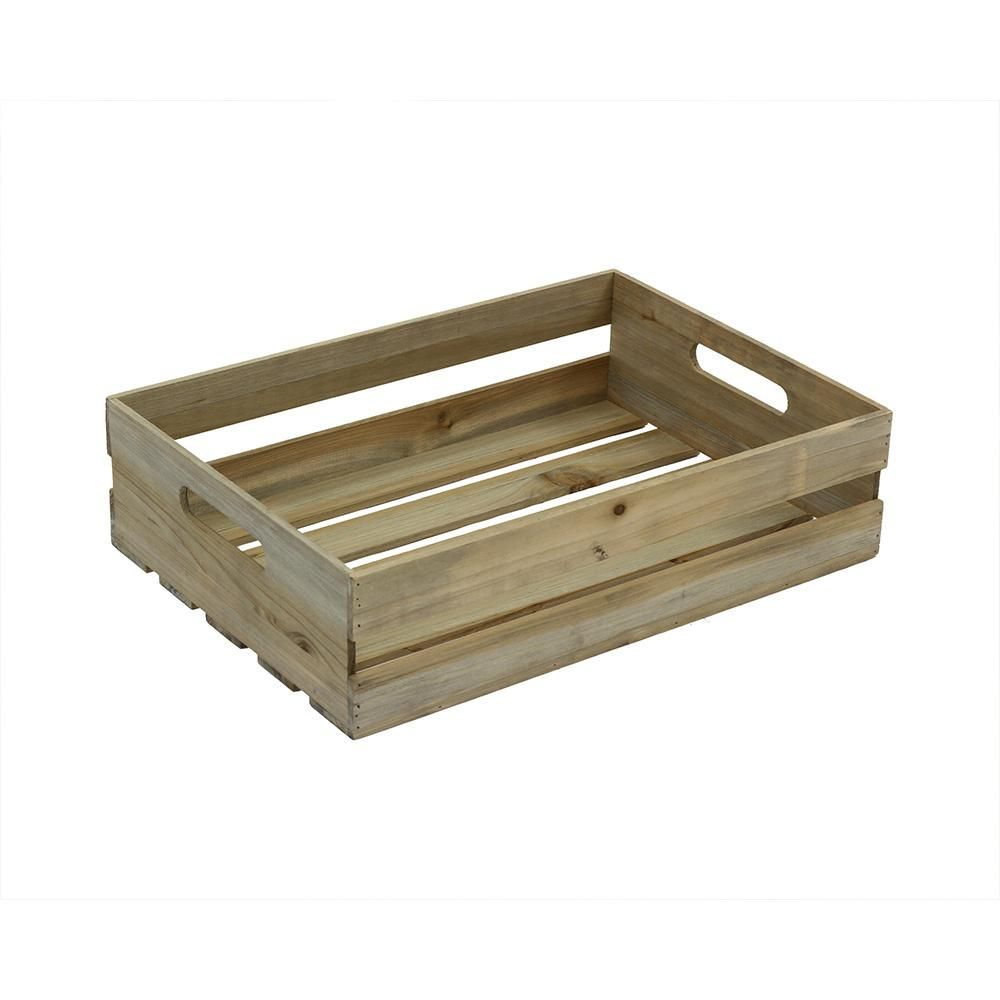 18 in. x 12.5 in. x 4.625 in. Half Crate in Weathered Gray | Crates