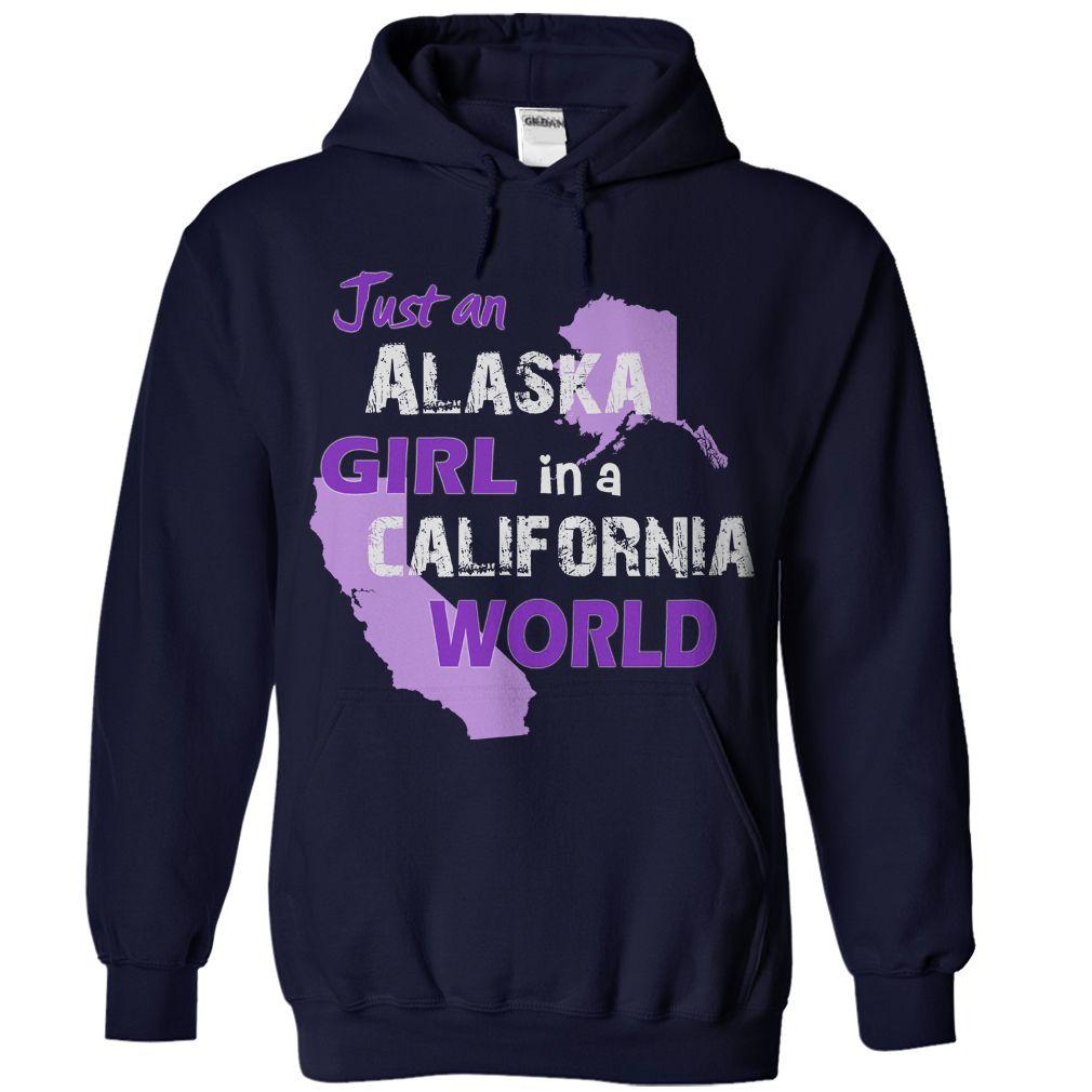 Click here: https://www.sunfrog.com/States/Just-An-Alaska-Girl-In-A-California-World-NavyBlue-13484269-Hoodie.html?7833 Just An Alaska Girl In A California World