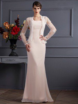 f22906f3fff A-Line Princess Strapless Lace Sleeveless Long Chiffon Mother of the Bride  Dresses -