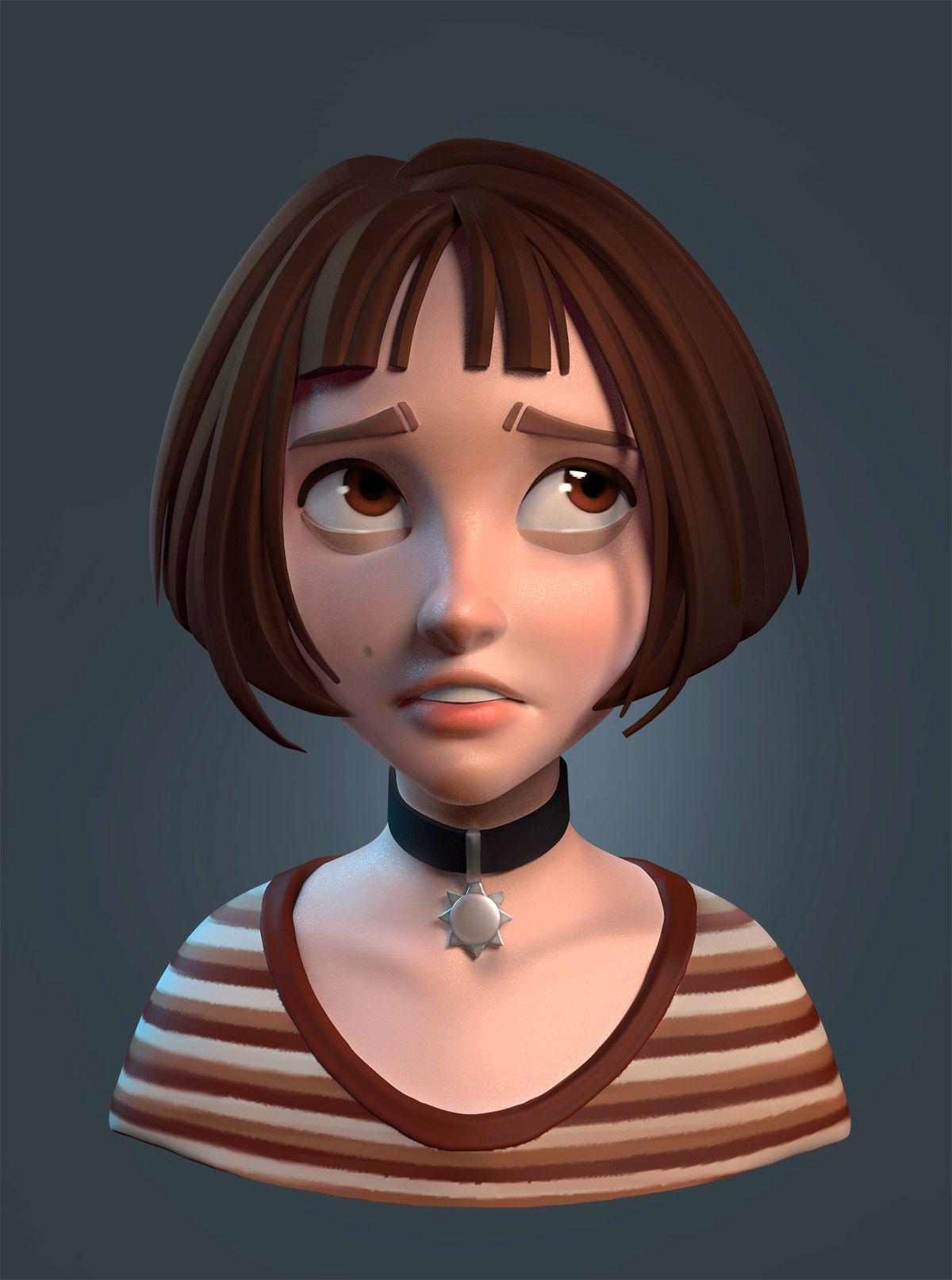 Artstation Some Speedsculpt Characters Anastasiya Loginova