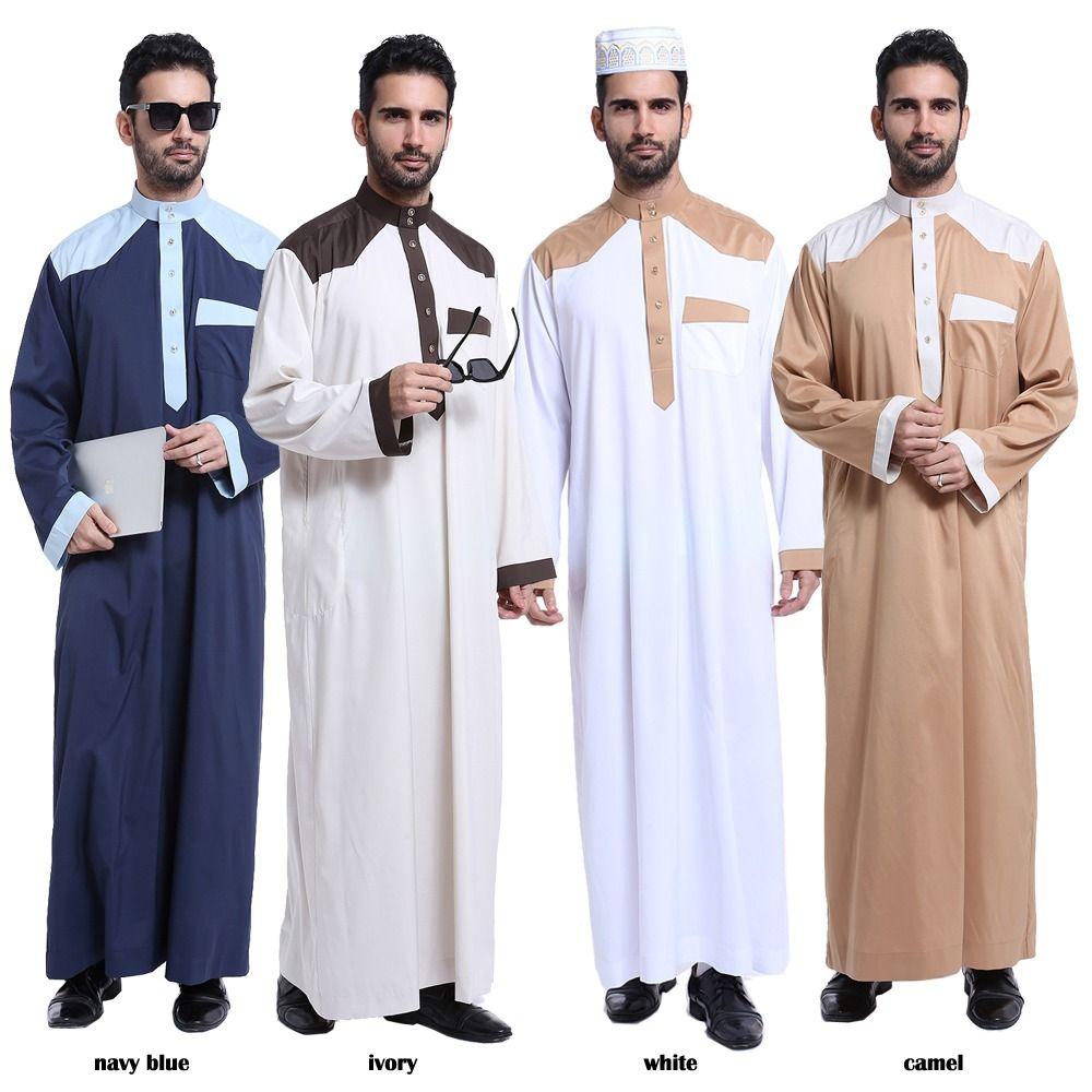 Popular islam apparel men long sleeve abaya muslim arab thobe popular islam apparel men long sleeve abaya muslim arab thobe middle east islamic clothing kaftan robe sciox Images