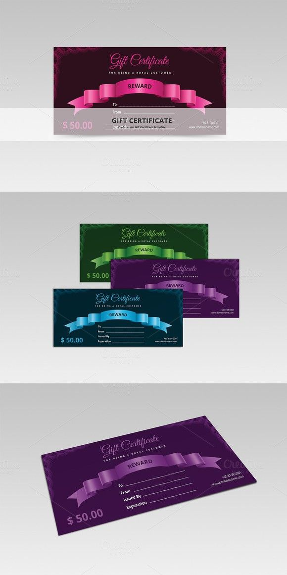 Gift Certificate Gift Certificates Stationery Templates Gifts