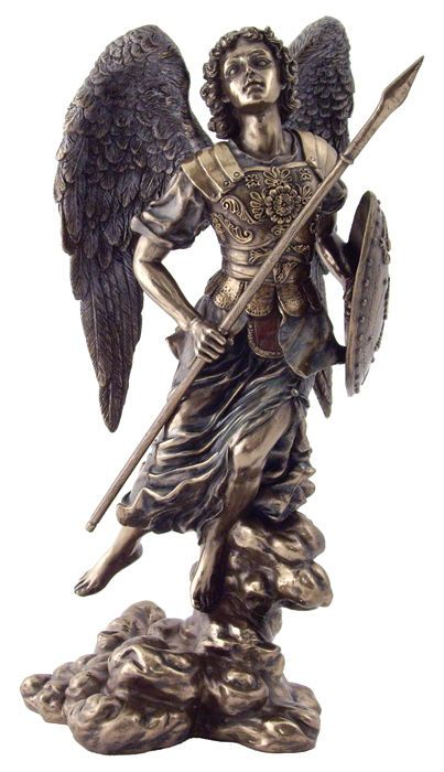 St Raphael Archangel Statue Sculpture Figurine 13 Tall We Ship Worldwide Arcangel Rafael Dibujos Pintura Y Escultura