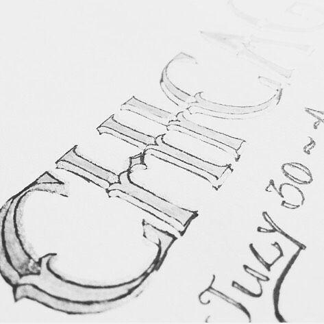 Dazzled by @samyukthak's vaca-inspired lettering! #ssletters #handlettering #lettering #acreativedc #chicago