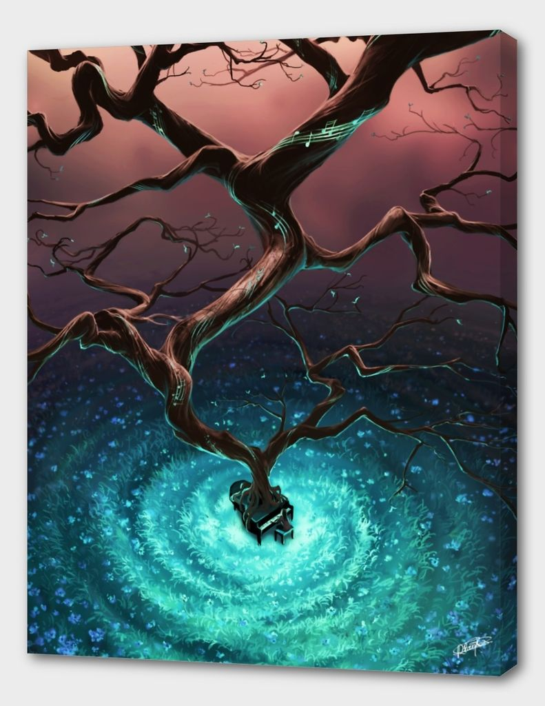 «Let it grow» Canvas Print by Cyril Rolando - Aquasixio - Numbered Edition from $59   Curioos
