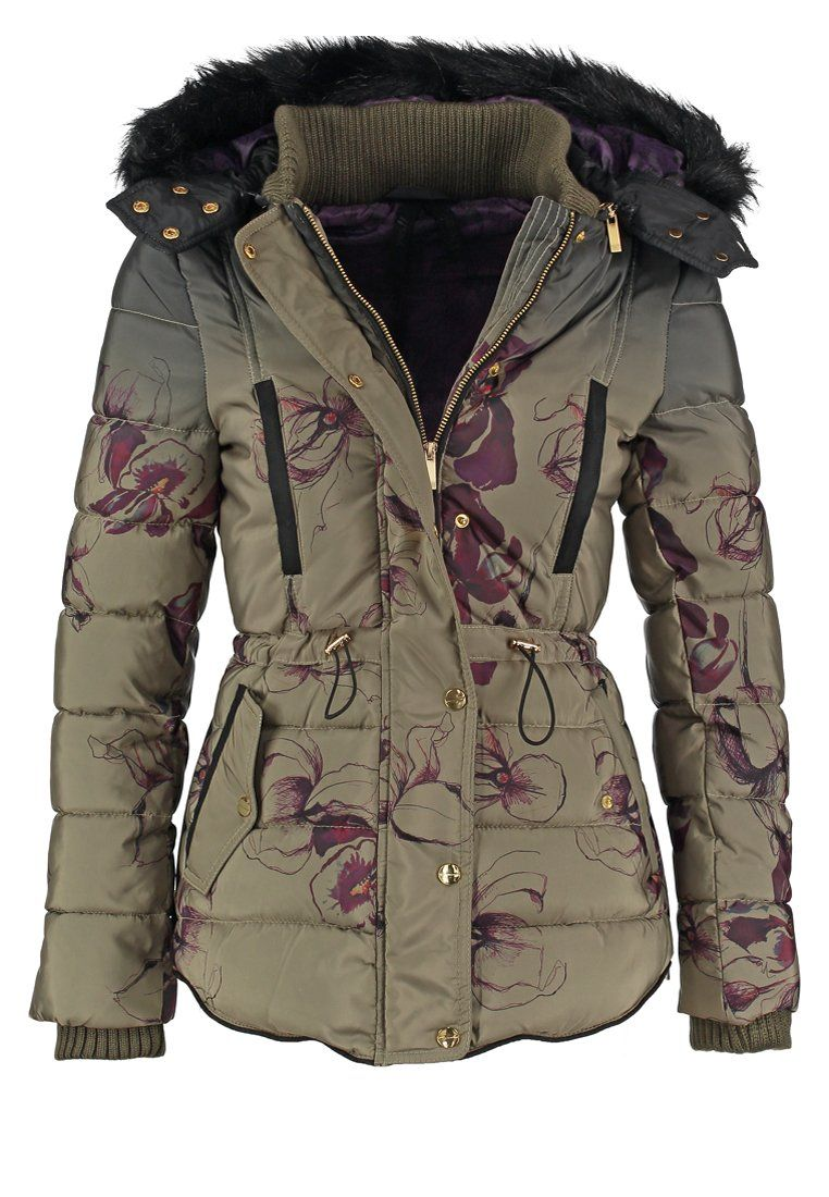 Desigual NURIA Veste d hiver caqui prix promo Veste d hiver femme Zalando  175.00 € 560658d6df9
