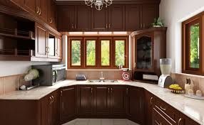 Indian Kitchen Dark Brown Cabinets And Cupboards White Walls