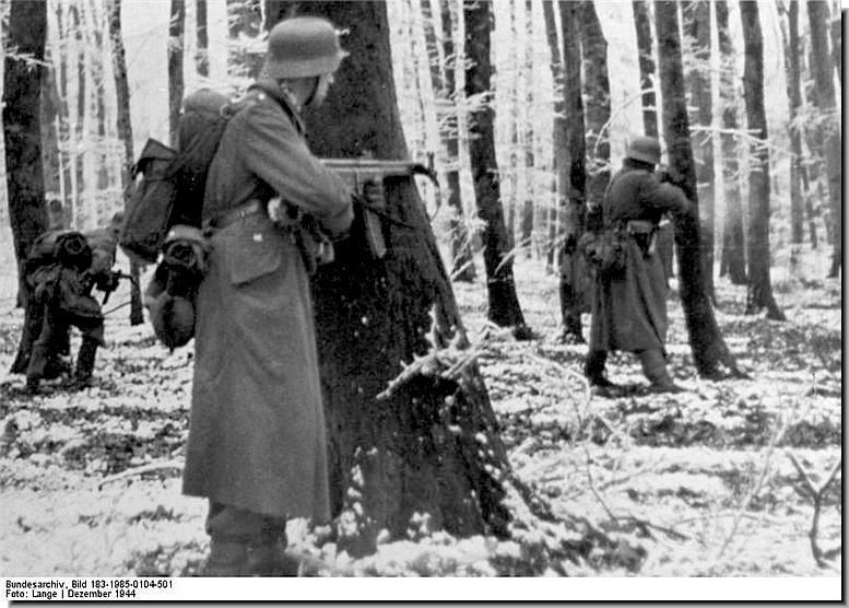 German soldiers during the Ardennes Offensive in December 1944