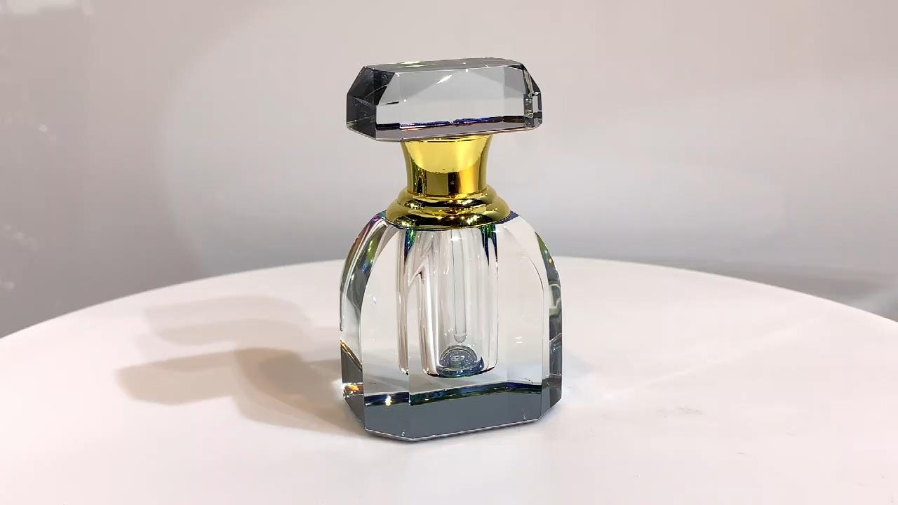 Empty Crystal Vintage Perfume Bottle Antique Perfume Container Glass Bottle Refillable Bottle Gift Video Antique Perfume Bottles Perfume Bottles Broken Glass Art