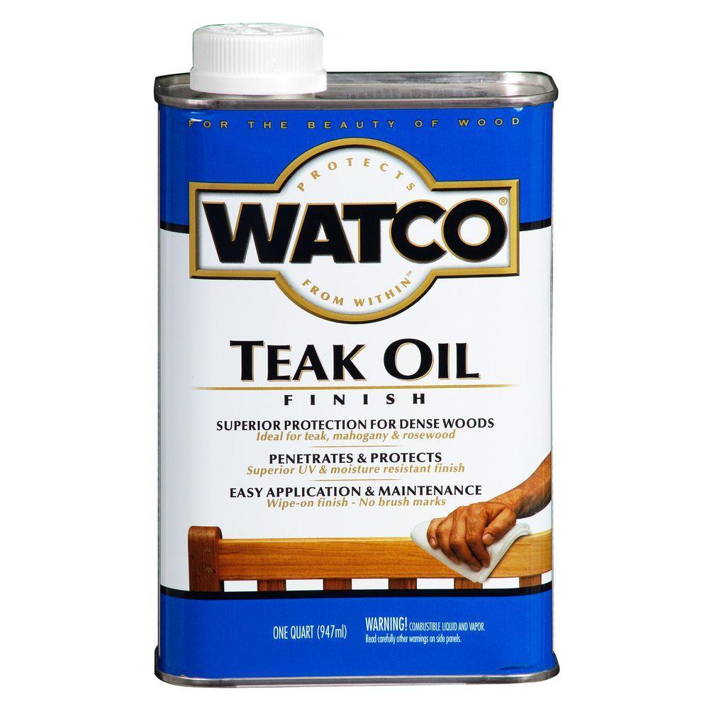 Watco 1 Qt Clear Matte Teak Oil 4 Pack A67141 Teak Oil Teak